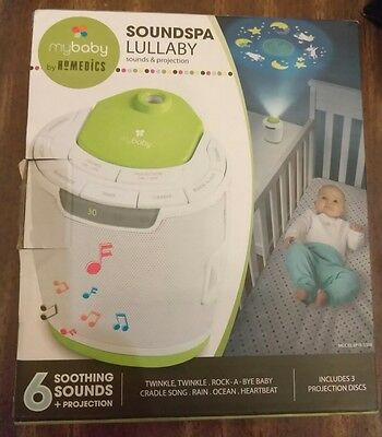 NEW! MyBaby Soundspa Lullaby Sounds& Projection By Homedics