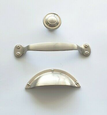 Kitchen Handles And Cupboard Knob In Brushed Nickel Finish