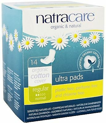 Natracare Natural Ultra Pads with Wings, Regular 14 ea (Pack of 3)