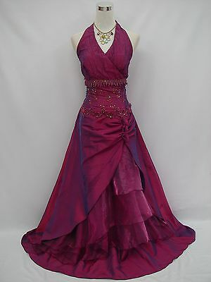 Cherlone Plus Size Purple Ballgown Wedding/Evening Bridesmaid Party Formal Dress