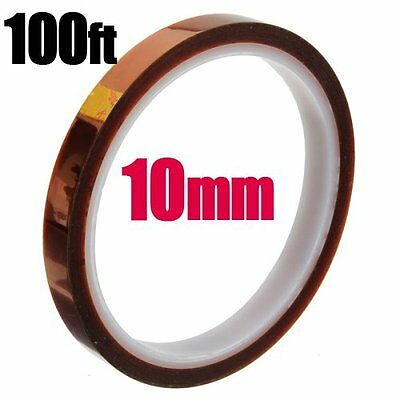 10mm 33m 100ft Kapton Tape High Temperature Heat Resistant Polyimide UK ship