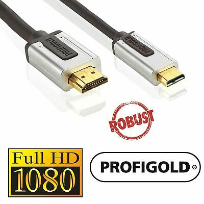 2m Micro D HDMI 1.4 Plug to HDMI Plug High Speed HD Pro Cable Metal OFC 24K Gold