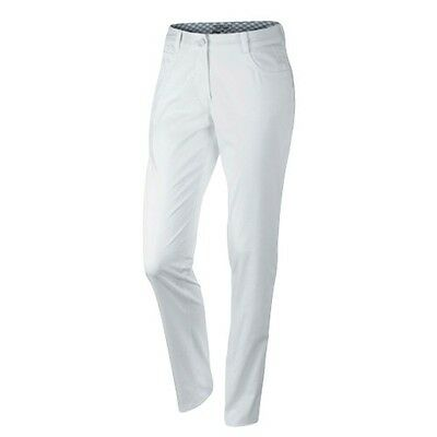 NIKE WHITE GOLF womens ladies trousers JEAN style pant size 16UK comfort DRI-FIT