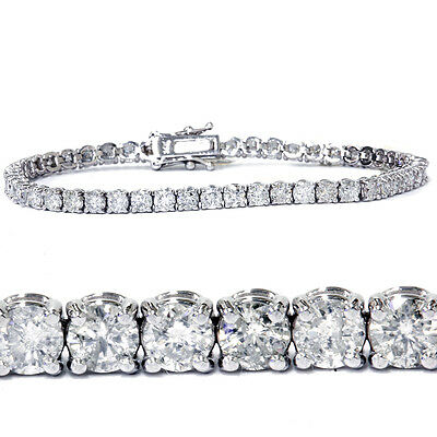 7.00 Ct Round HUGE Natural Diamond Tennis Bracelet 14K White Gold (Not Enhanced)