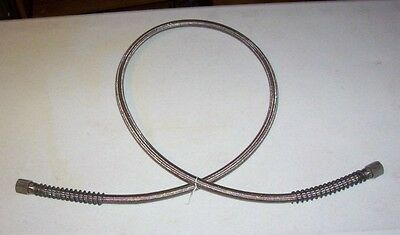 """Stainless Steel Mesh Flex Pipe 5/8"""" x 6 FT SST Braided Hose w/ 5/8"""" Flared end"""