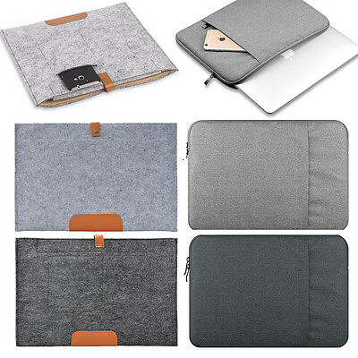 """Fabric Laptop Sleeve Bag Case Cover Tablet Pouch Notebook Macbook HP Dell 13 15"""""""