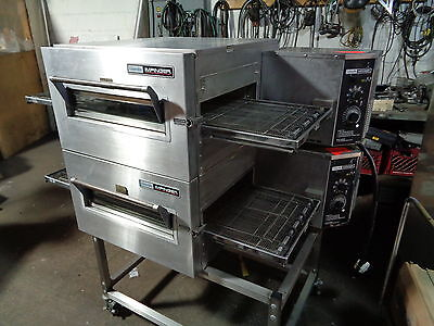 """LINCOLN IMPINGER"" 1130 DOUBLE STACKED 1Ph ELECTRIC CONVEYOR PIZZA OVEN"