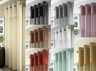 Luxury Madeira Voile Curtain Panel(1),voile Net Curtains,ring Top,modern Colours
