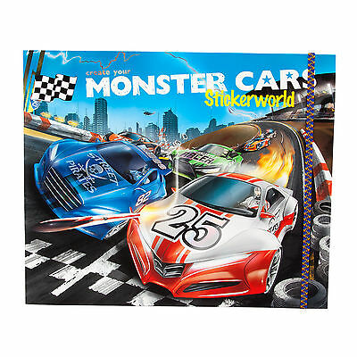 Depesche Monster Cars Stickerworld Stickerbuch Malbuch Sticker Autos Jungen6244