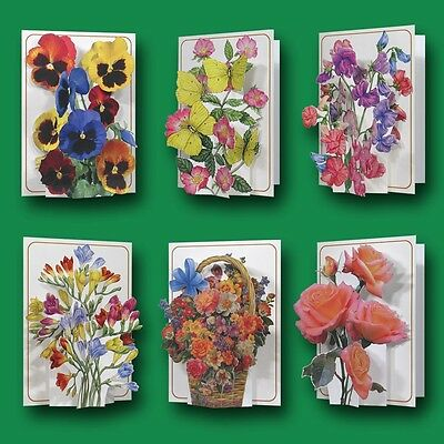 Pictoria Press 3D Pop Up Greeting Card Flower Collection Birthday Any occassion