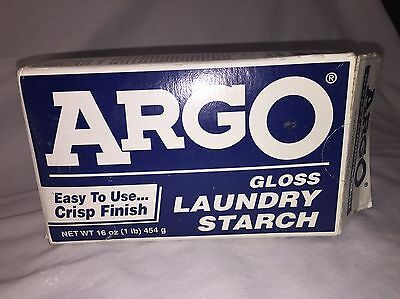 """Old Times """"Argo"""" Gloss Laundry Starch"""