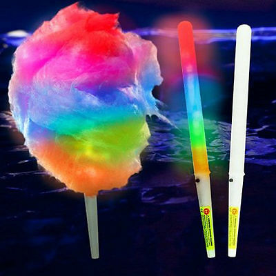 8 function LED cotton candy sticks