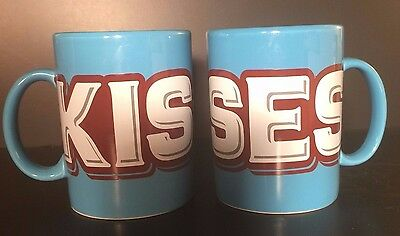 Pair Hershey Kiss Kisses Coffee Mug Cup 2009 Giant 22 ounces Collector