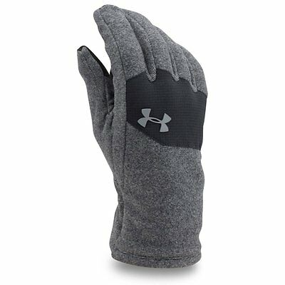 (TG. Small) Under Armour Survivor-Guanti da corsa da uomo, colore: nero, (Z9b)