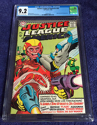 Justice League of America #50 (1966) CGC Graded 9.2 - Robin & Lord of Time App