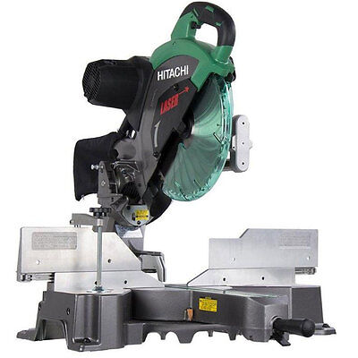 "15A 12"" Dual Bevel Sliding Compound Miter Saw with Laser Hitachi C12RSH2 New"