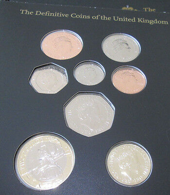 2015 Royal Mint Fifth Coinage Portrait First Editions BU Difinative Set £2 - 1p