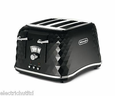 New Delonghi Brillante Faceted 4 Slice Toaster Ctj4003.bk Black Crumb Tray 2