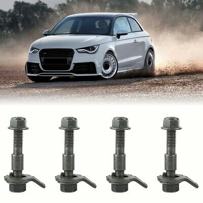 5Pcs 12mm Car Steel Four Wheel Alignment Adjustable Camber Kit Cam Bolt New EB