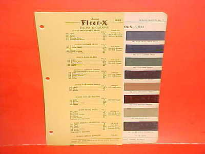 1942 Desoto Custom Deluxe Convertible Coupe Paint Chips Color Chart Brochure 42