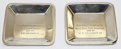 Vintage Tiffany & Co Sterling Silver Rectangle Ashtray Set Monogrammed