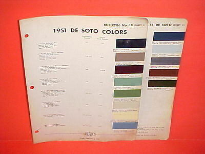 1951 Desoto Deluxe Custom Convertible Club Coupe Sedan Station Wagon Paint Chips