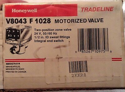 "Honeywell 1/2"" Sweat-on Motorized Valve Part # V8043F1028 Free Shipping!"