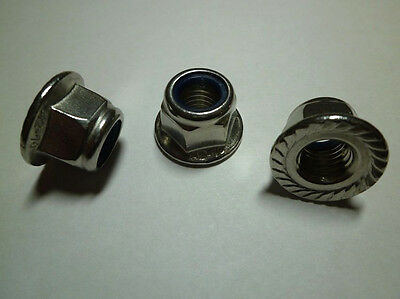 Hexagon nuts self-locking Stainless steel V2A Locking tooth nuts M5 - M12