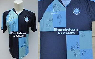 2015-16 Wycombe Wanderers Home Shirt Signed by 1st Team Squad (10156)
