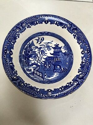Willow Pattern Serving Bowl Burleigh Ware