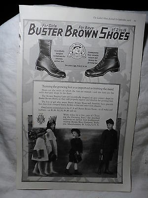 1918 Original BUSTER BROWN SHOES  Ad