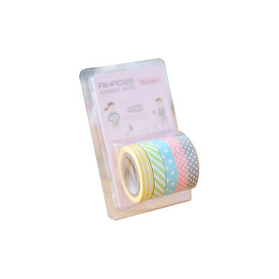 5Pcs/lot Cute Kawaii Candy Color Washi Tape Lovely Dot Stripe Decorative Tapes
