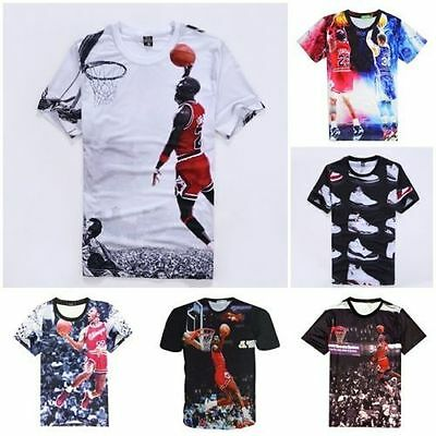 New Men Boy Women Casual 3D Print Jordan Jersey T-Shirt Tee shirt basketball Top