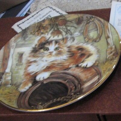 Country Kitty in Kitten Classics Cat Plate Collection Royal Worcester 1985 China