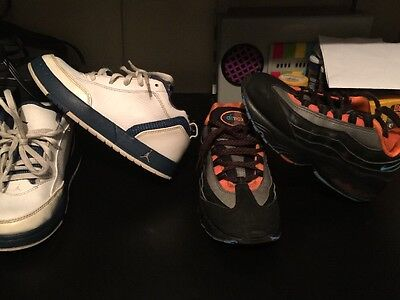 Kid Boy's NIKE AIR MAX RV 311524-180 & Blue/White Jordan 413594 104 13c & 13.5c