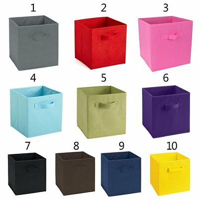Foldable Storage Collapsible Folding Box Home Clothes Organizer Fabric Cube