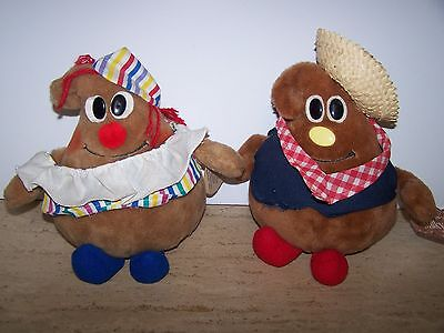 Vintage 1980's Nestle MIlky & P. Nutty Plush Doll's Advertising Promo Dolls