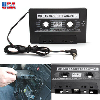 Car Cassette Adapter Adaptor 3.5mm Convertor Tape For iPod MP3 CD MD Player