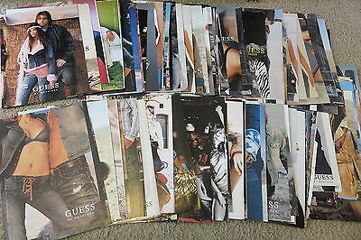 125 + LOT Guess Advertisements Magazine Ads early 2000's clippings