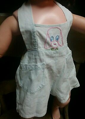 Vintage girl or boy romper 1940s 1950s newborn infant dress clothing 6 to 18 mo