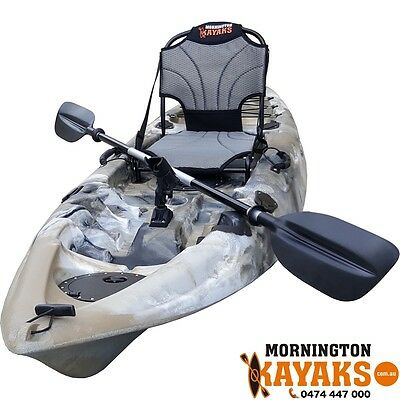 40% OFF 9ft Long Brand New Fishing Grey Camo Kayak Package RRP $699
