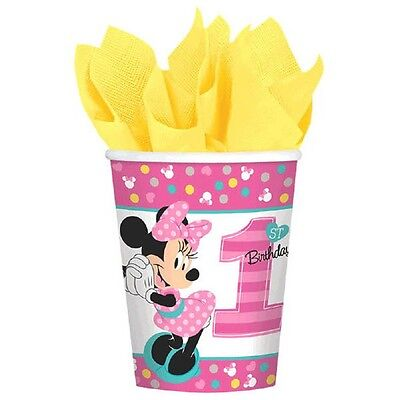 Minnie Mouse Fun to Be One 8 9 Oz Hot Cold Paper Cups 1st Birthday Party