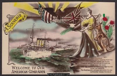 US Fleet Visit to Australia, Welcome to Our American Comrades