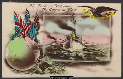 US Fleet Visit to New Zealand 1908
