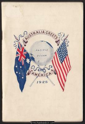 1925 US Fleet Visit - Programme of Melbourne Entertainments