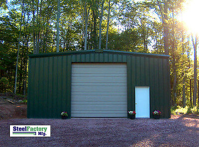 Steel Factory 25x40x16 Prefab Barn Metal Galvanized Frame Garage Building Kit