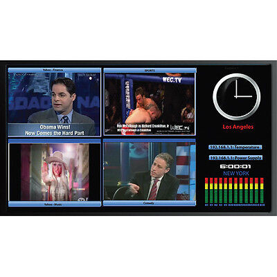 Apantac LE-4HD Four Input Auto-Detect HD / SD-SDI Multiviewer, with Cat-X extend