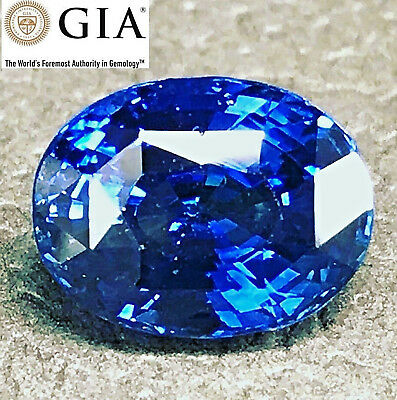GIA Certified 4.54 ct Natural Rich Blue ceylon Sapphire Oval , must watch video