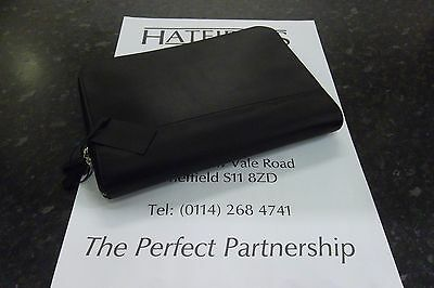 Genuine Landrover Leather Portfolio Case Black Lrslgtrxport