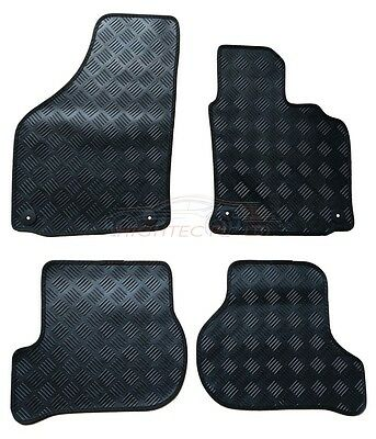 Volkswagen Golf Mk5 2003-2009 tailored 4pc set black rubber car floor mats F5121